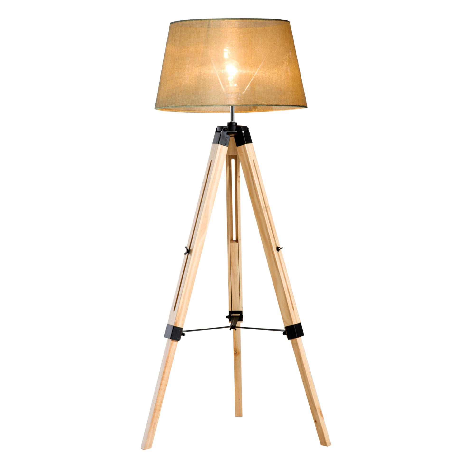 Stehlampe Hohenverstellbar Farbe Natur Beige Weltbild De