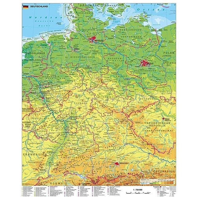 Stiefel Wandkarte Grossformat Deutschland Physisch Buch