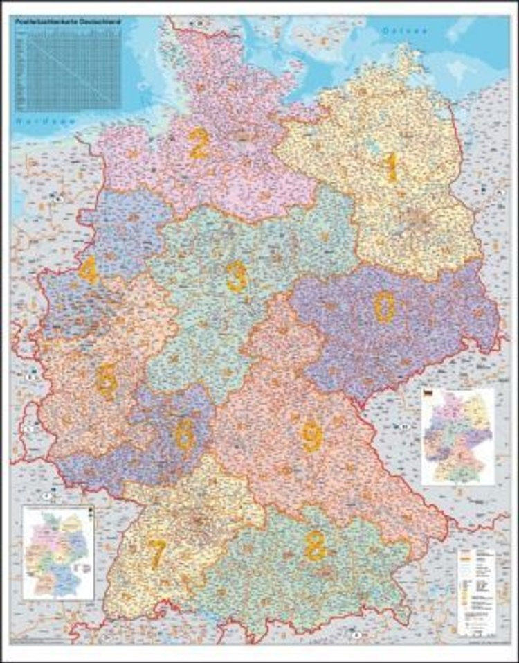 Stiefel Wandkarte Grossformat Deutschland Plz Karte Ohne