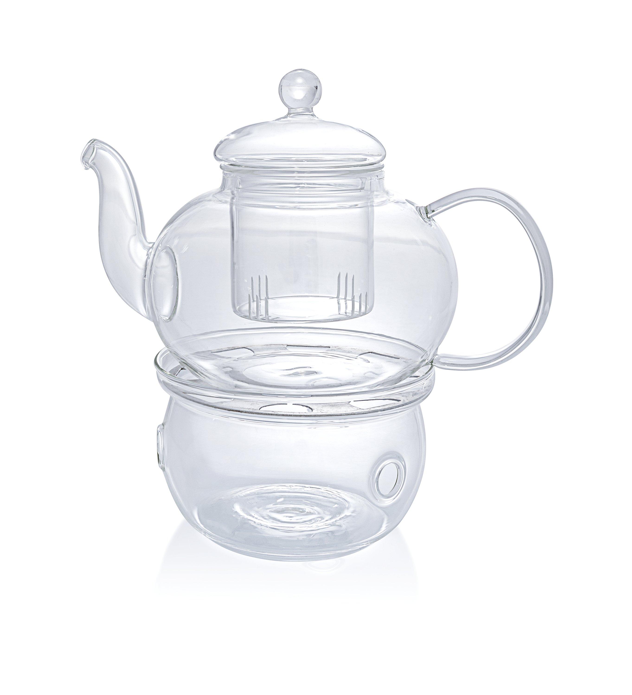 Venice Pers/önlichen Doppelwandiges Glas Tasse mit Edelstahl Tee-Ei gr/ün