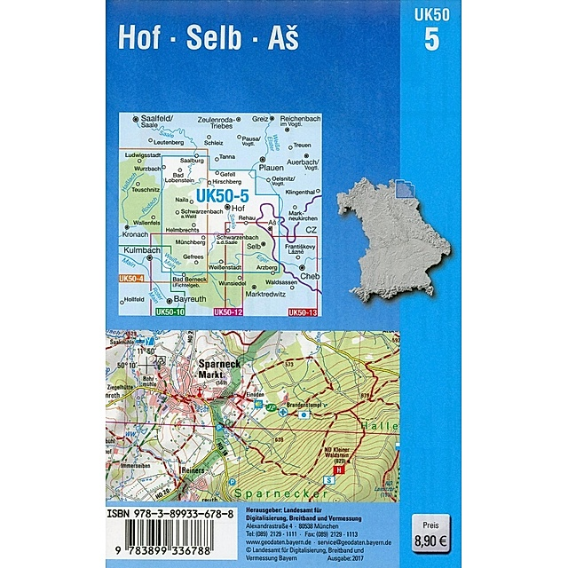 Topographische Karte Bayern Hof Selb As Buch Versandkostenfrei