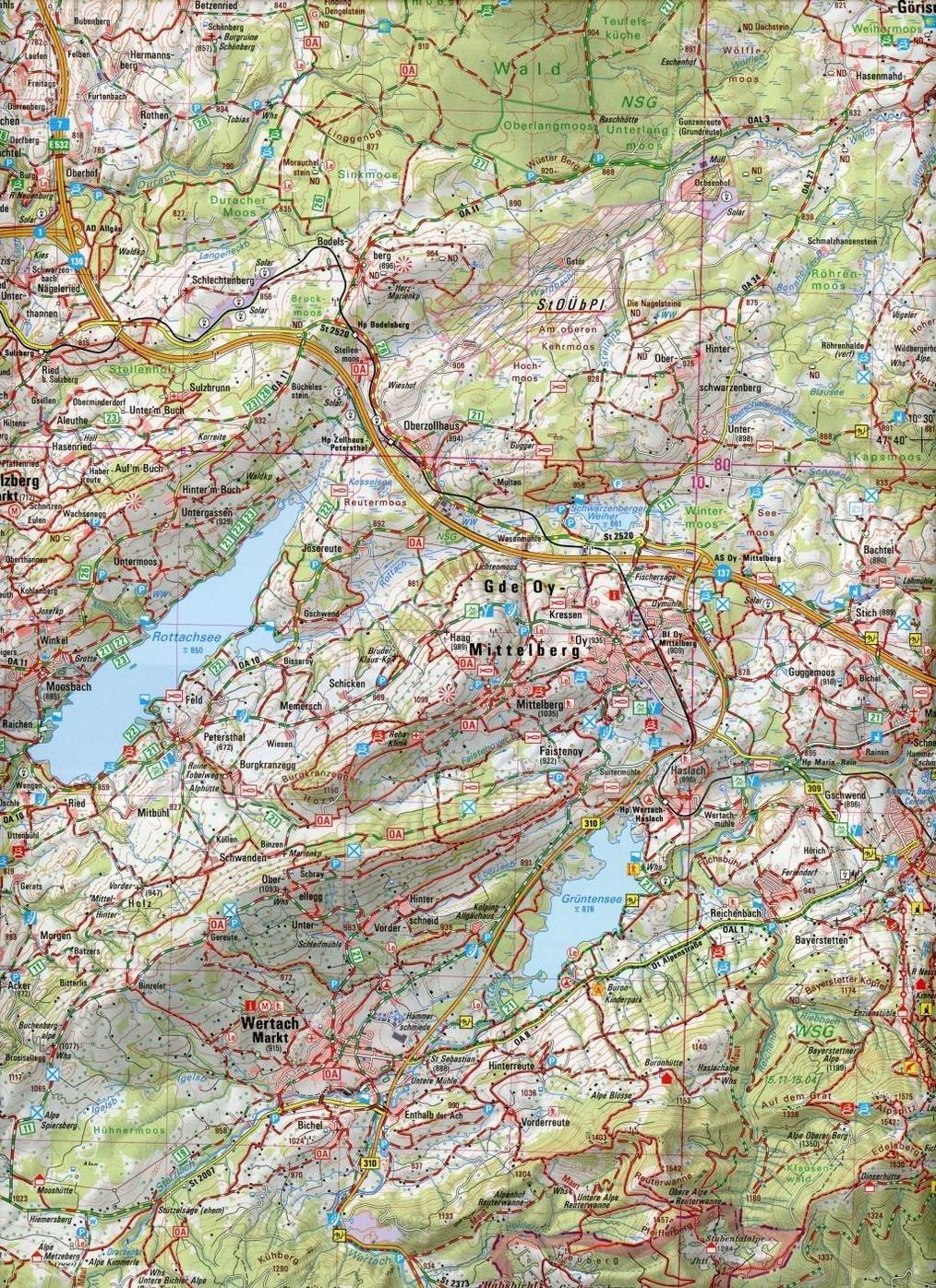 Topographische Karte Bayern Kempten Allgau Buch Weltbild At