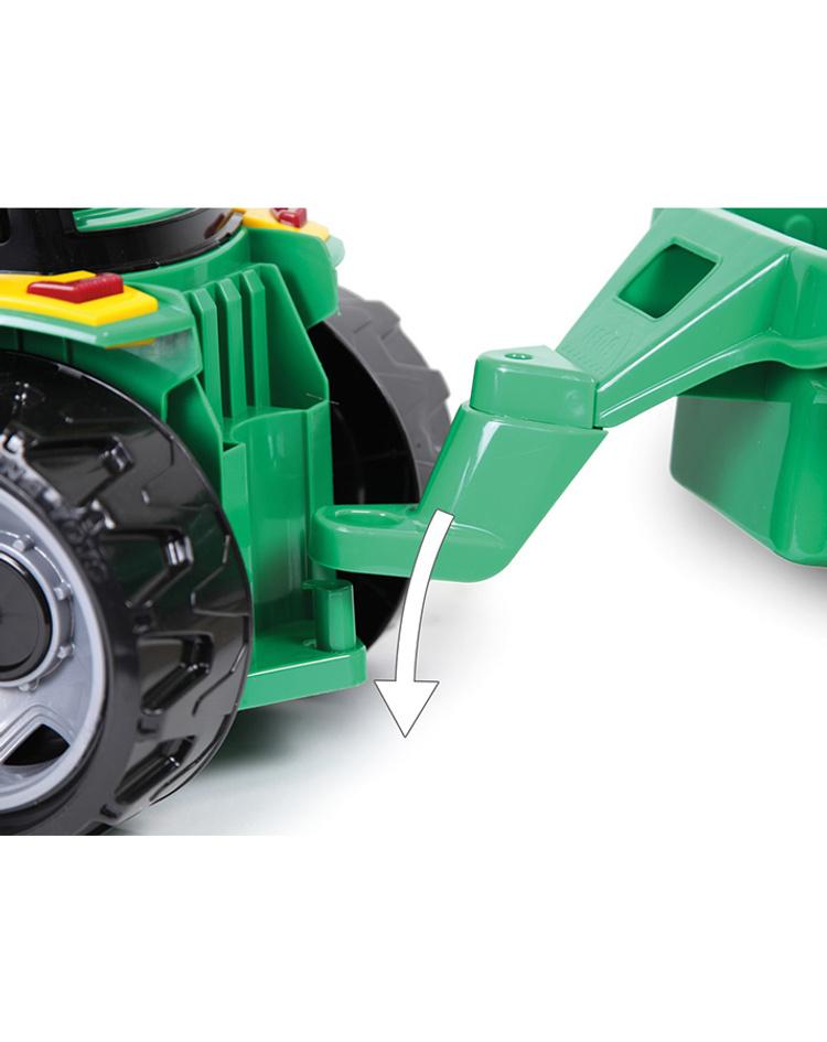 traktor starke riesen mit schaufel und anhänger
