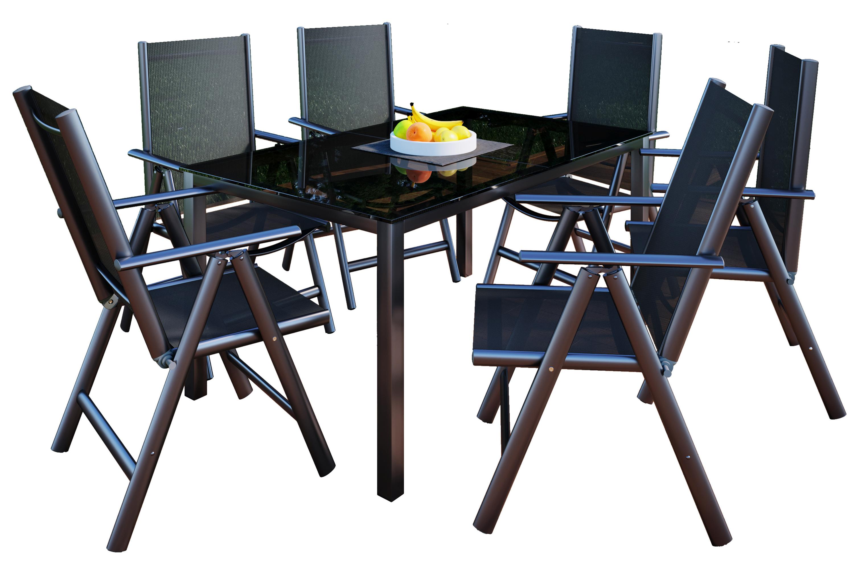 VCM Alu Tisch Esstisch Essgruppe Gartentisch Gartenmöbel