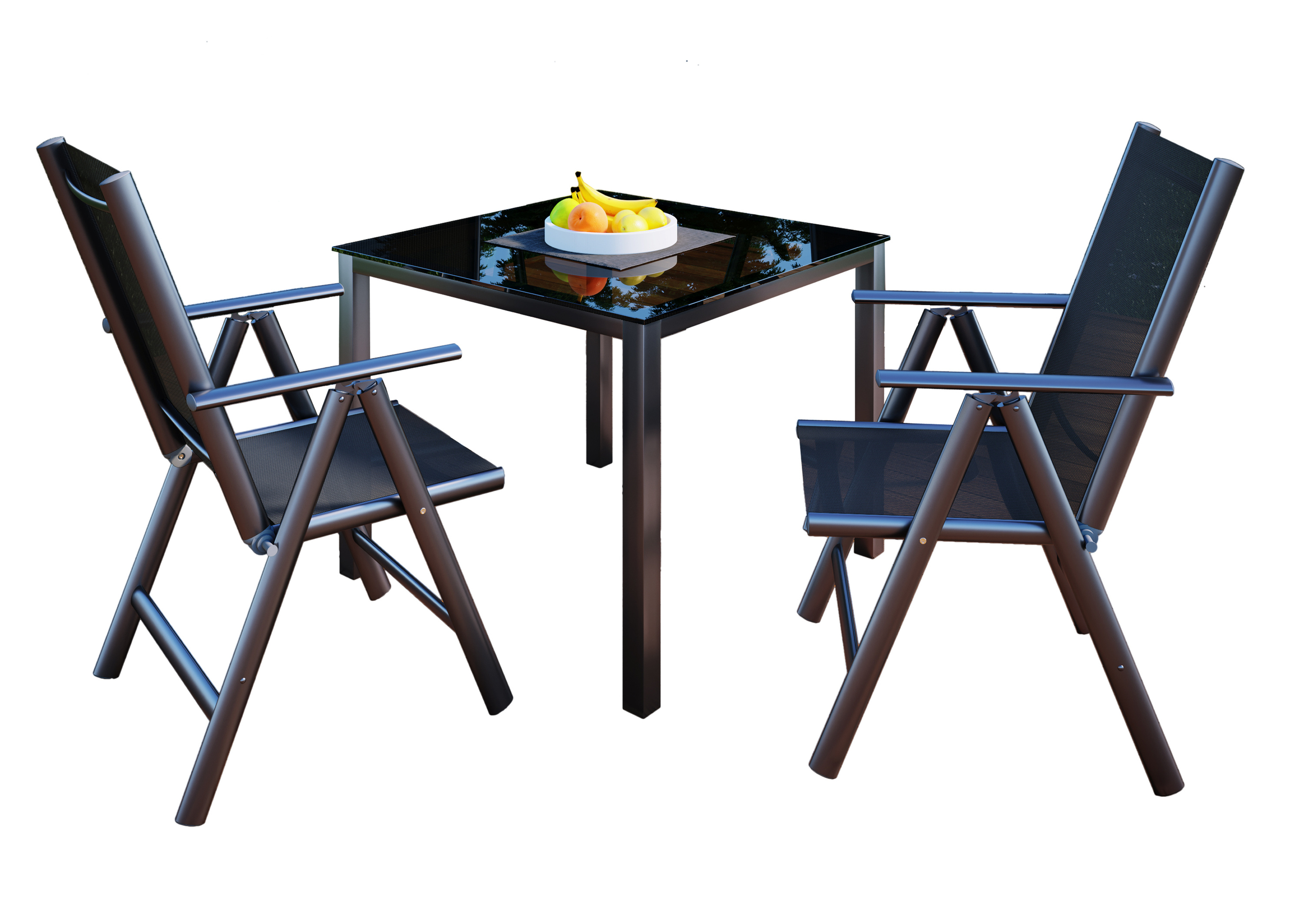 Vcm Alu Sitzgruppe 90x90 Gartenmobel Gartengarnitur Tisch Stuhl