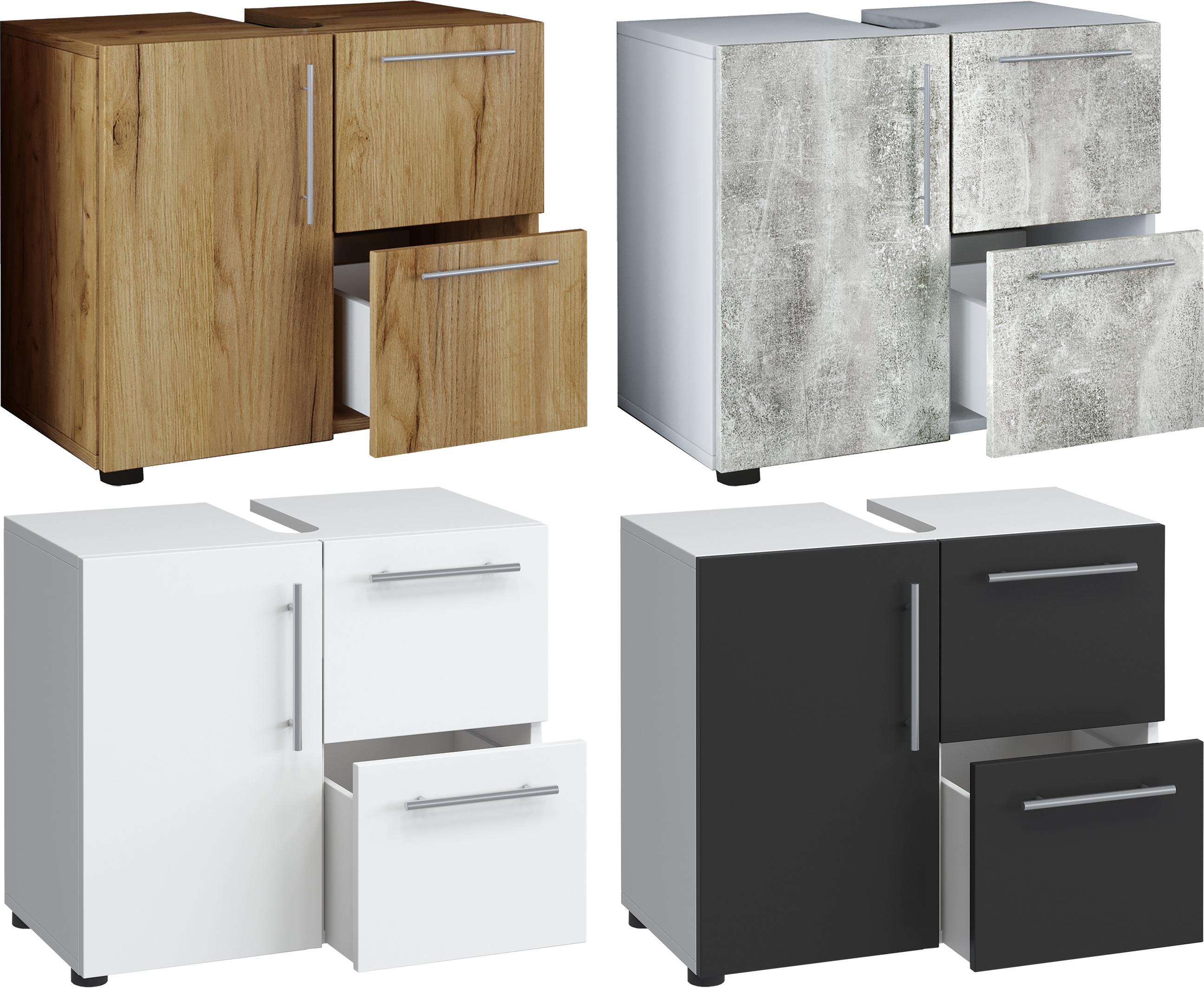 VCM Bad Unterschrank Waschtisch Waschbeckenunterschrank Badunterschrank  Schrank Möbel