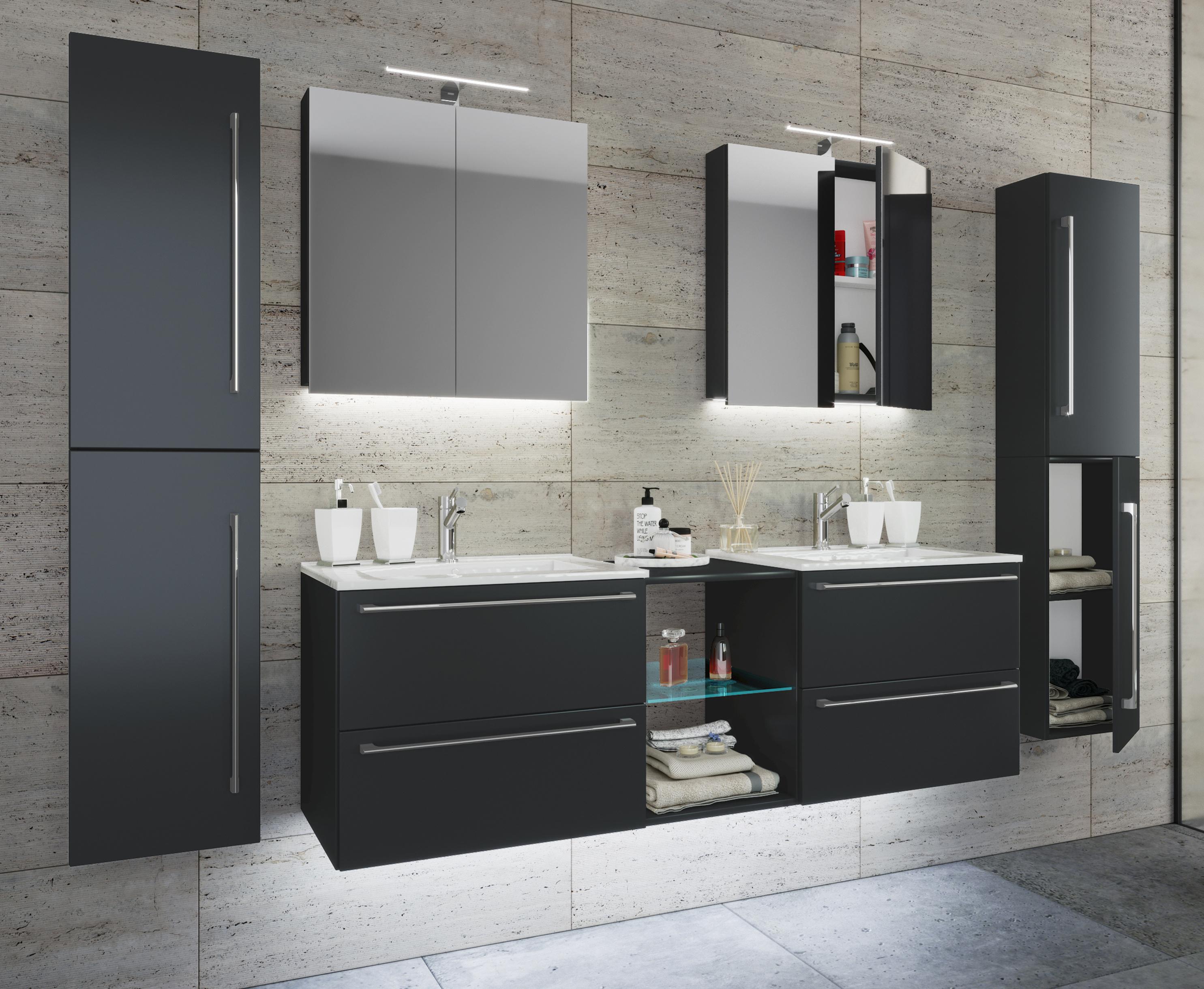 VCM Doppel   Waschplatz Waschtisch Waschbecken Unterschrank