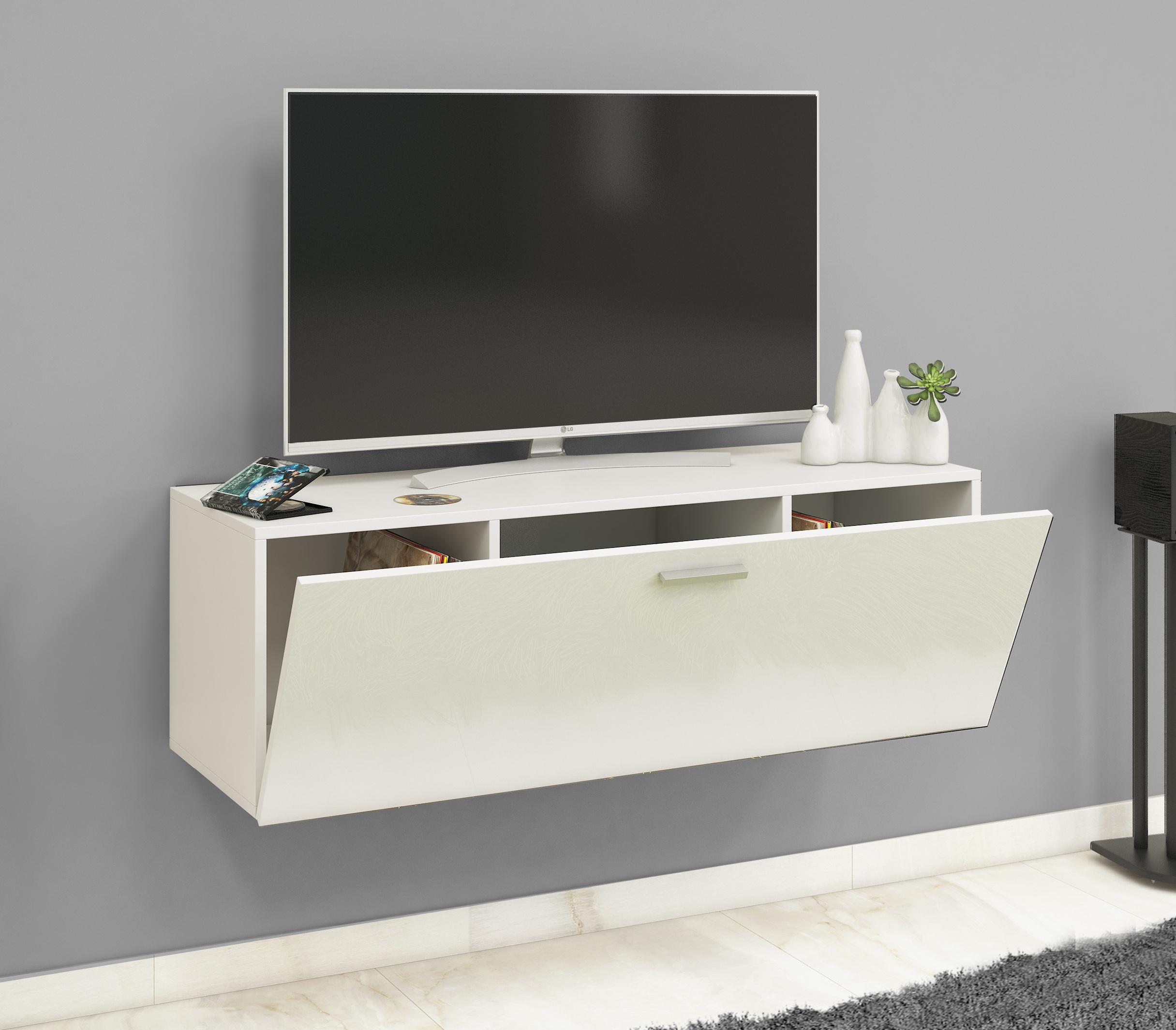 Vcm My Media Tv Wand Board Fernsehtisch Lowboard Wohnwand Regal