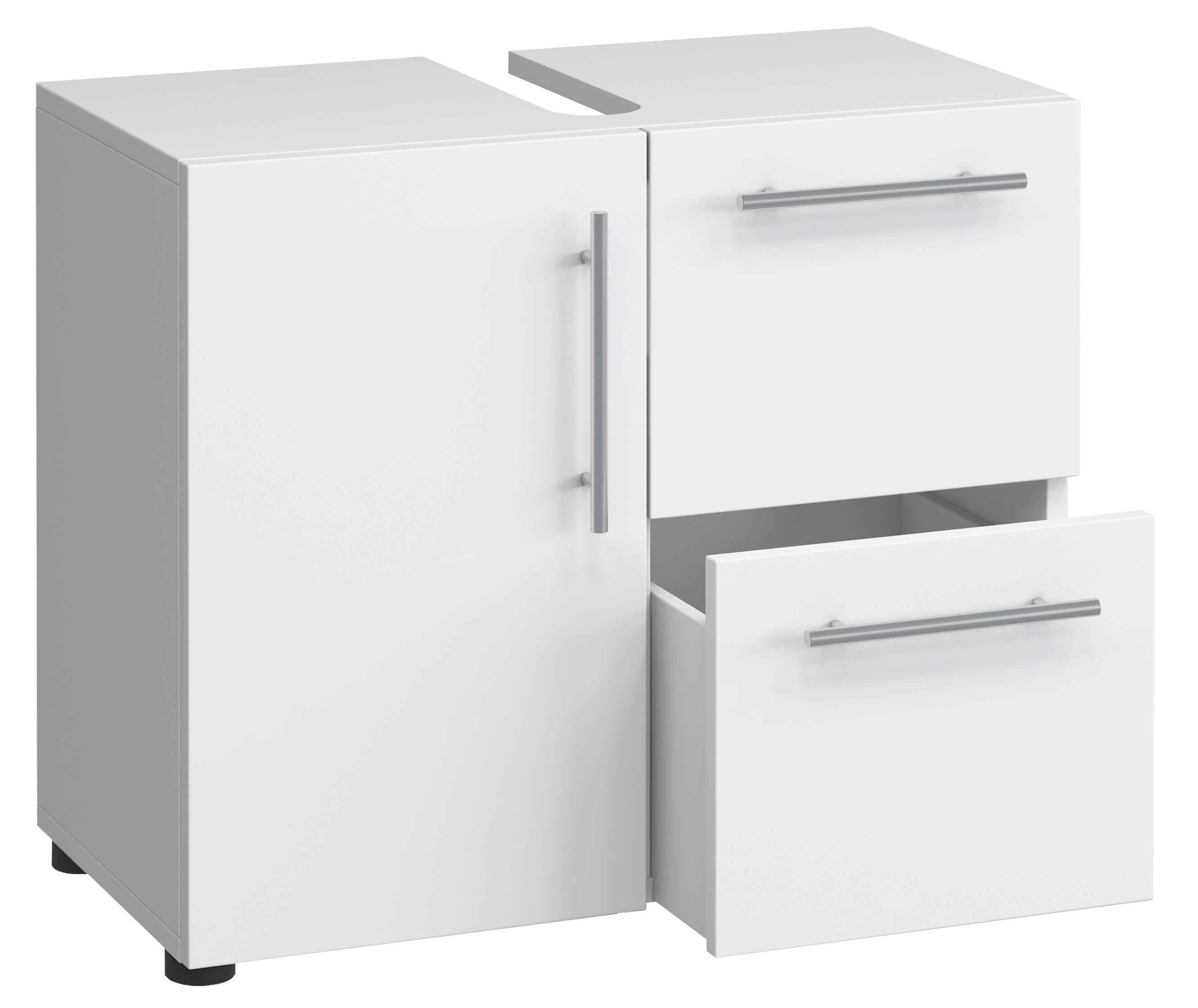 VCM Unterschrank Schubladen Badschrank Badmöbel Midischrank Hochschrank  Waschbeckenunterschrank