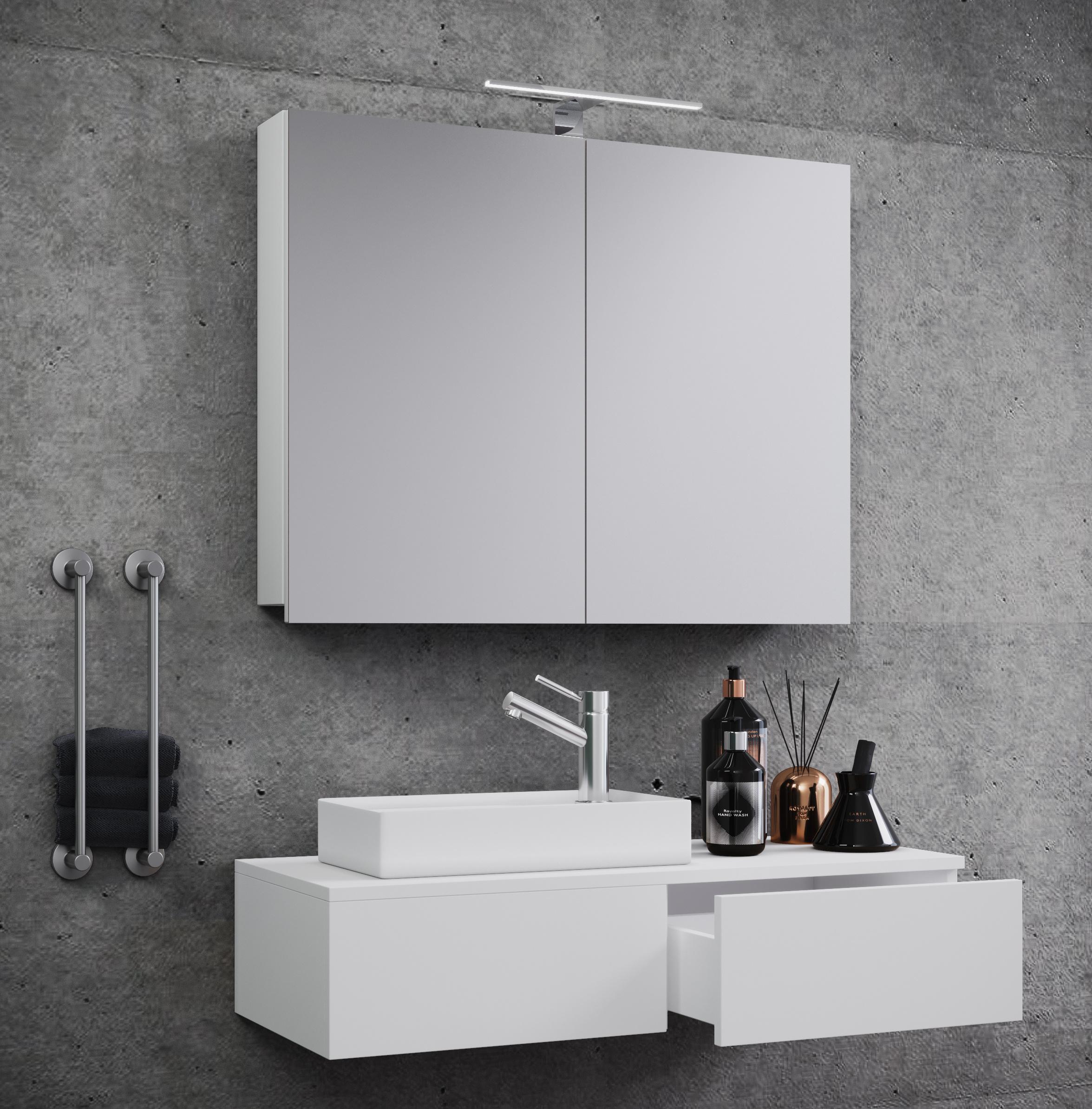 Waschplatz Badmöbel Badezimmer Set Waschtisch Waschbecken