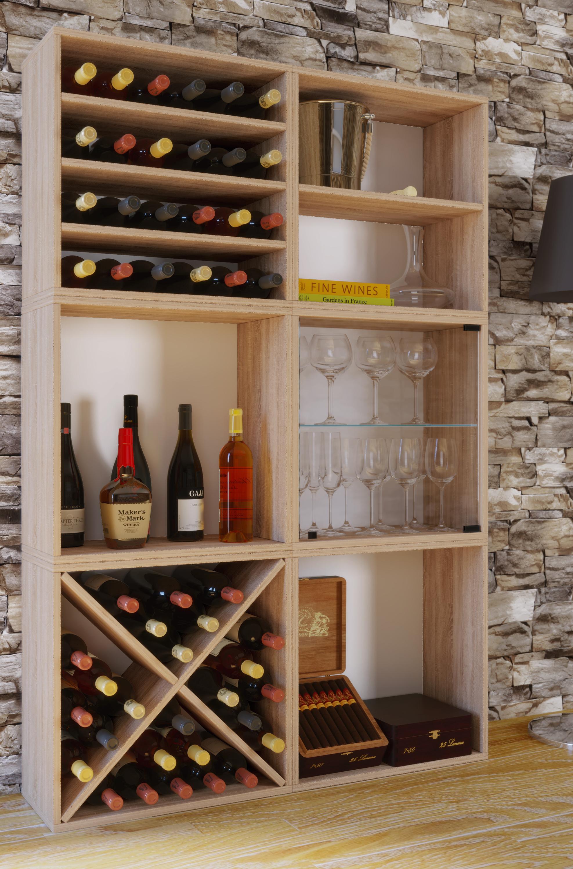 Vcm Wein Regalserie Regal Weinregal Weinschrank Weinflaschen Schrank Holz Wurfel Flaschen Aufbewahrung Weino Vcm Weinregal Serie Weino Farbe Weino Lll Sonoma Eiche Weltbild De