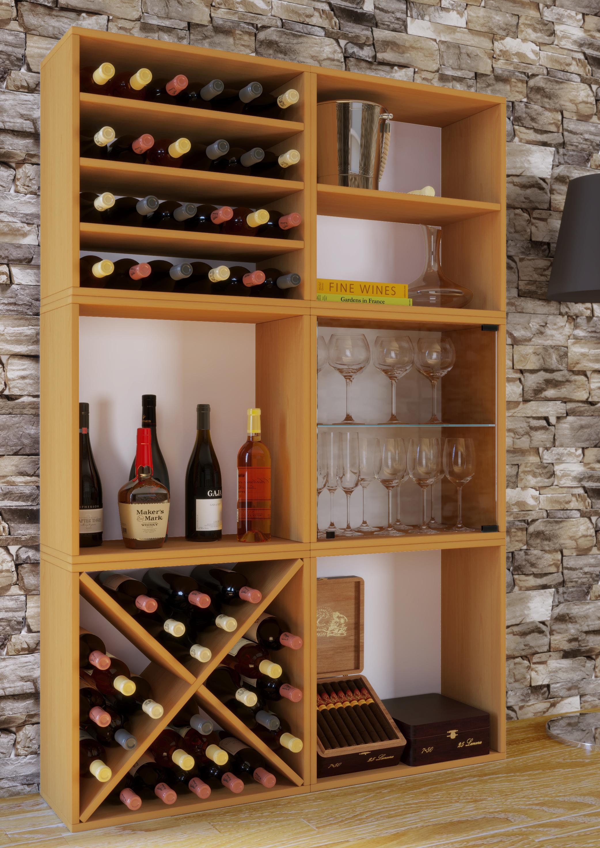 Vcm Wein Regalserie Regal Weinregal Weinschrank Weinflaschen Schrank Holz Wurfel Flaschen Aufbewahrung Weino Vcm Weinregal Serie Weino Farbe Weino V Buche Weltbild De