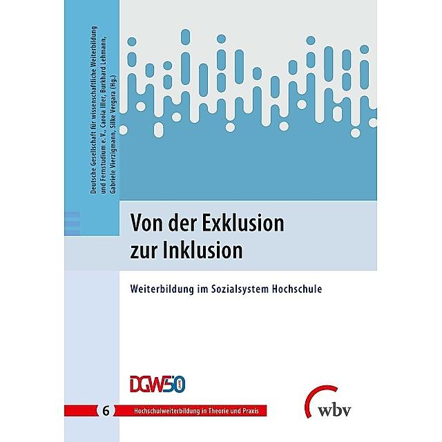"""Bild vom Buchcover des Sammelbandes """"Von der Exklusion zur Inklusion. Weiterbildung im Sozialsystem Hochschule""""."""