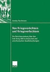 Von Kriegsverächtern und Kriegsverfechtern - eBook - Annika Rechmann,