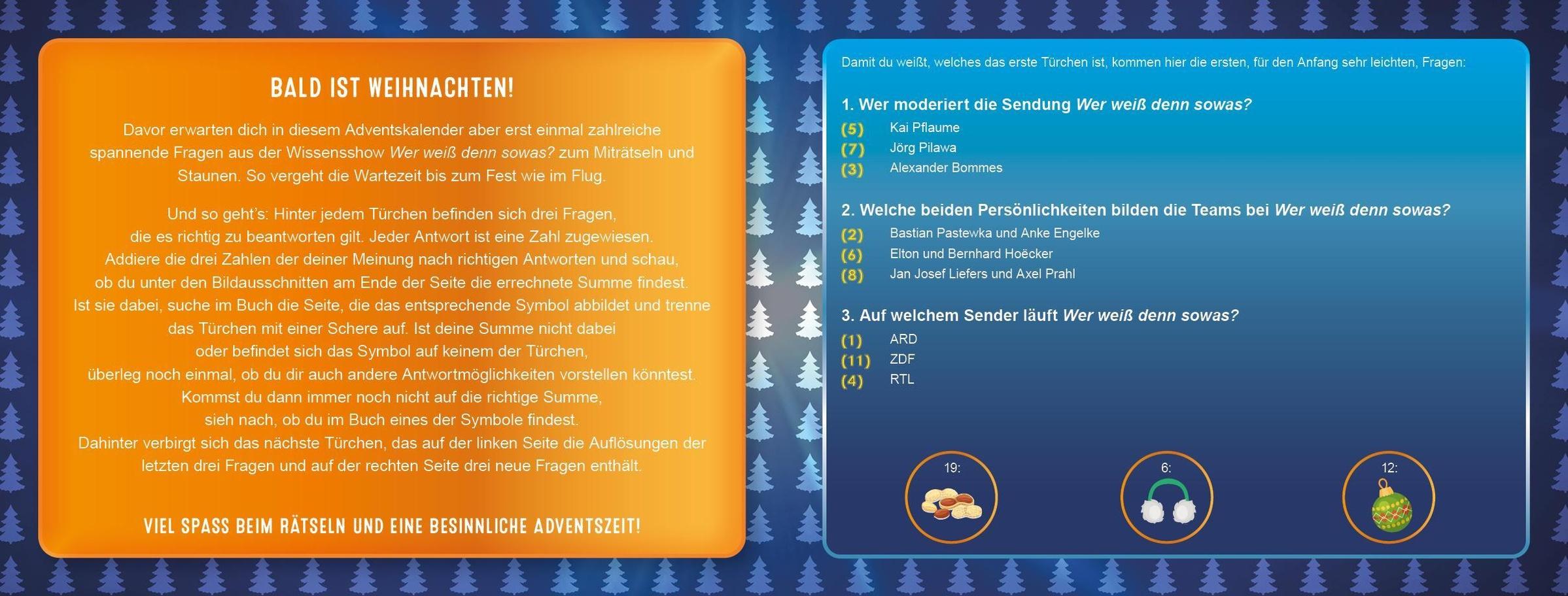 Wer Weiss Denn Sowas Der Adventskalender Buch Jetzt Online Bei Weltbild Ch Bestellen