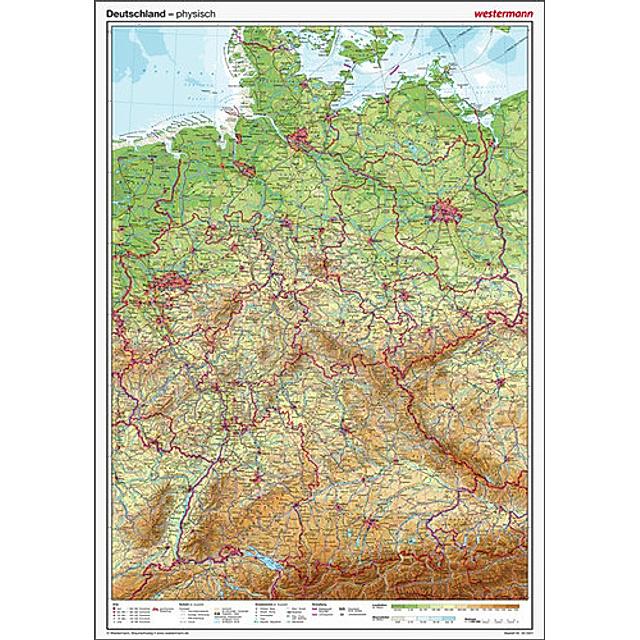 Westermann Deutschland Physisch Posterkarte Buch Versandkostenfrei