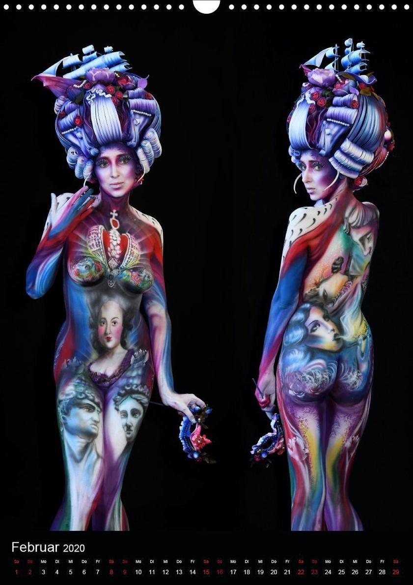 World Bodypainting Festival 21 Wandkalender 2020 Din A3 Hoch Kalender Bestellen