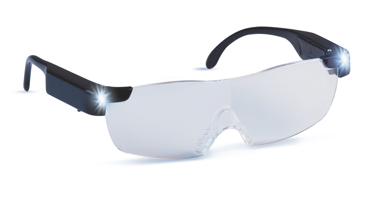 Zoom Magix LED Vergrößerungsbrille 2,5D Dioptrien Leselupe Brille Lupenbrille
