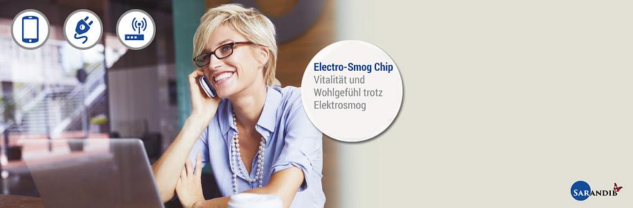 """#Electro-Smog Chip #####Wandelt Elektrosmog in positive Bioresonanz  Wie schädlich Elektrosmog sein kann, merken viele Menschen erst, wenn sie länger am Handy sind. Das Ohr wird heiss, Kopfweh entsteht, Müdigkeit macht sich breit. Nutzen Sie jetzt Elektro-Geräte so oft Sie möchten mit dem Electro-Smog Chip von SARANDIB. Damit wandeln Sie schädliche Strahlung in körperzellen-optimierte Wellen um!  {{ button href=""""/news/downloads/Electro-Smog_Broschuere_web.pdf"""" text=""""Broschüre ansehen"""" }}"""