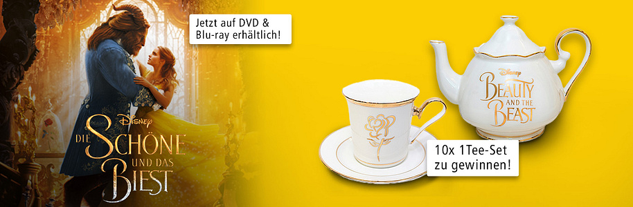 The Beauty and the Beast - tolles Tee-Set gewinnen