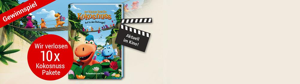 """###Der kleine Drache Kokosnuss 2 Am 27. Dezember startet in den Kinos der Film """"Der kleine Drache Kokosnuss 2"""". Wie im ersten Teil erlebt der kleine Drache zusammen mit seinen Freunden Oskar und Mathilda wieder viele spannende Abenteuer. Der erste Teil ist im Jahr 2014 erschienen. Dieser kam so gut an, dass der kleine Drache knapp ein Jahr später auch als Serie im Fernsehen ausgestrahlt wurde. Nun folgt der zweite Kinofilm vom niedlichen Drachen. Zum Kinostart haben wir ein tolles Gewinnspiel."""
