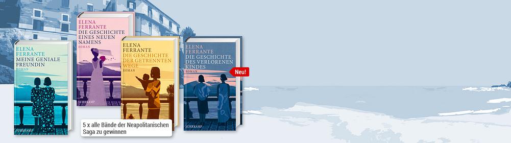 ##Die Neapolitanische Saga Am 02.02.2018 erscheint der vierte Teil der Neapolitanischen Saga der Bestsellerautorin Elena Ferrante.    Elena ist schliesslich doch nach Neapel zurückgekehrt, aus Liebe. Die beste Entscheidung ihres ganzen Lebens, glaubt sie, doch als sich ihr nach und nach die ganze Wahrheit über den geliebten Mann offenbart, fällt sie ins Bodenlose...  **Bei uns können Sie jetzt mit etwas Glück die komplette Saga gewinnen!**