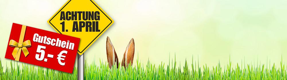 ##April, April...? **Sichern Sie sich jetzt einen 5.- € GUTSCHEIN bei unserem lustigen Suchspiel zum 1. April!**  Finden Sie heraus, welches der unten abgebildeten Produkte nicht existiert und sichern Sie sich durch einen Klick darauf den versteckten **5.- € Gutschein**, den Sie am 01.04.19 und ab 30.- € Einkaufswert* einlösen können.  **Tipp:** Nur hinter dem **nicht existierenden Produkt befindet sich der 5.- € Gutschein** mit dem dazugehörigen Aktionscode. Wenn Sie auf einer Produktseite landen und den Artikel kaufen können, dann müssen Sie weiter suchen.  Viel Glück!