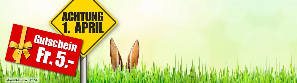 ##April, April...? **Sichern Sie sich jetzt einen Fr. 5.- GUTSCHEIN bei unserem lustigen Suchspiel zum 1. April!**  Finden Sie heraus, welches der unten abgebildeten Produkte nicht existiert und sichern Sie sich durch einen Klick darauf den versteckten **Fr. 5.- Gutschein**, den Sie am 01.04.17 und ab Fr. 30.- Bestellwert* einlösen können.  **Tipp:** Nur hinter dem **nicht existierenden Produkt befindet sich der Fr. 5.- Gutschein** mit dem dazugehörigen Aktionscode. Wenn Sie auf einer Produktseite landen und den Artikel kaufen können, dann müssen Sie weiter suchen.  Viel Glück!