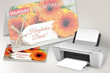 Die digitale Geschenkkarte - einfach ausdrucken und verschenken