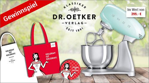 Dr. Oetker-Gewinnspiel mit tollen Preisen!