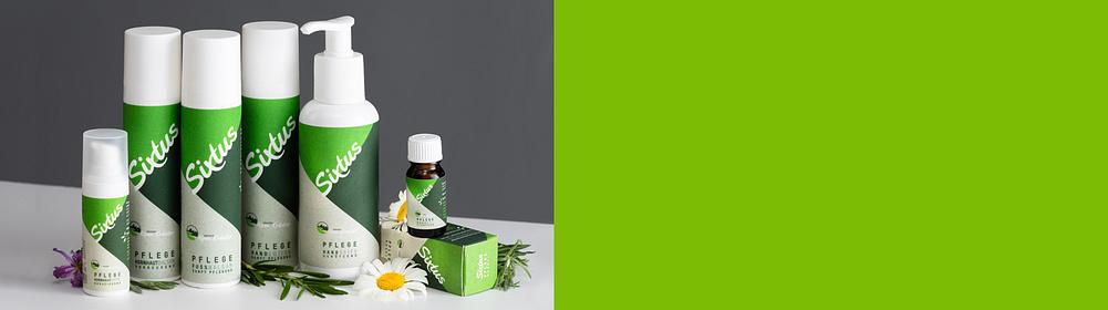 Sixtus Pflege -  Schutz und Pflege für Hände & Füße  Das Wohlfühl-Programm für jeden Hauttyp