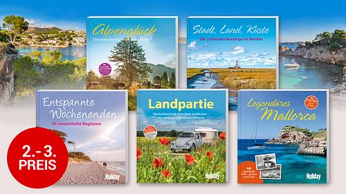 2. - 3. Preis: Je ein Reise-Buchpaket