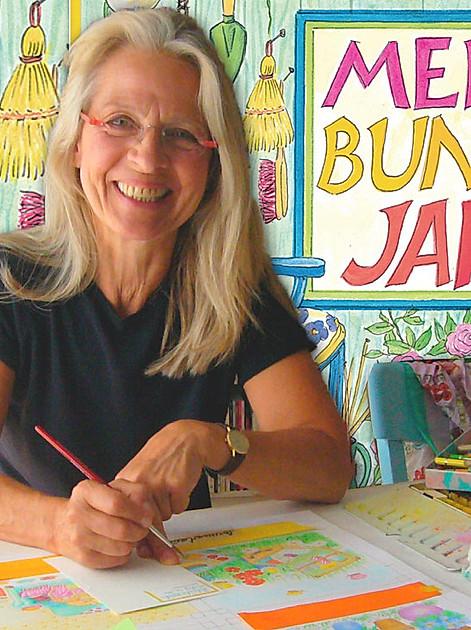 """Gabi Kohwagner heisst die Illustratorin, die seit 25 Jahren den Kalender """"Mein buntes Jahr"""" mit ganz viel Herz und Kreativität gestaltet"""