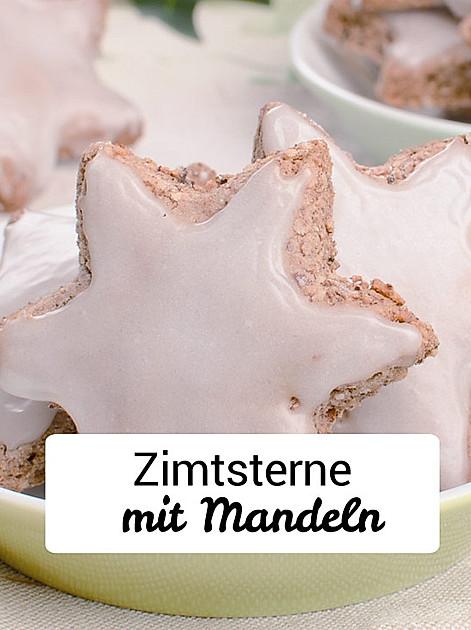 Rezept für Zimtsterne mit Mandeln