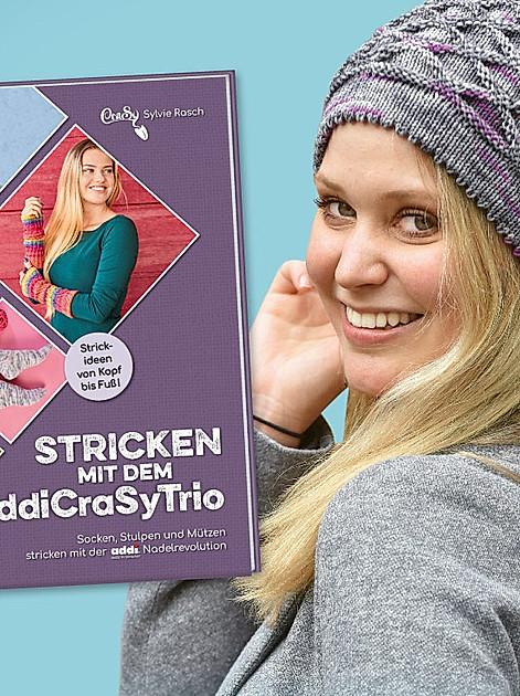 Stricken mit dem addiCraSyTrio - Socken, Stulpen und Mützen stricken