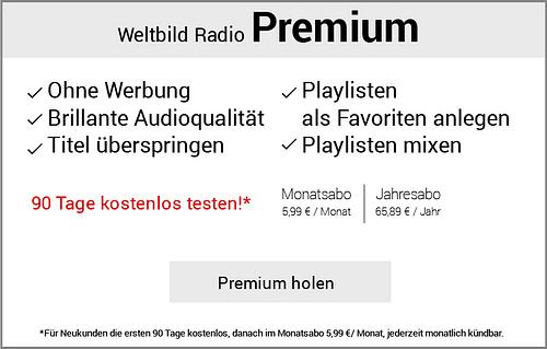 Weltbild Radio Premium