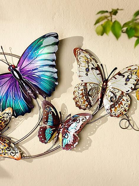 Fröhliche Farben an der Wand: Wanddeko Schmetterlinge