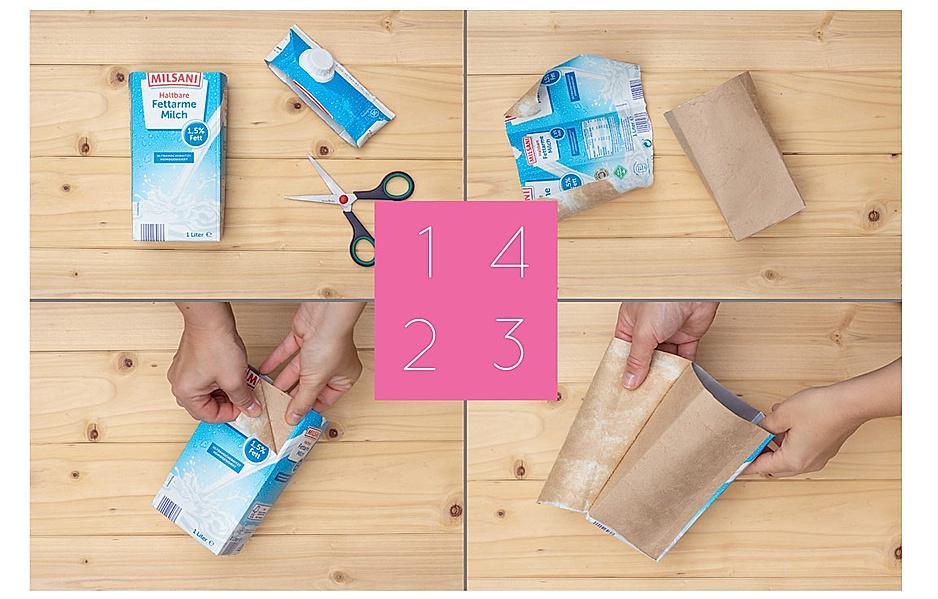 Tretrapacks mit silberner Innenseite lassen sich mit Stoff beziehen.