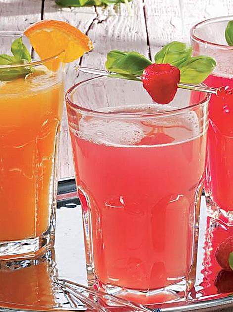 Limonade selber machen: Rezept für Orangen-Himbeer-Limonade