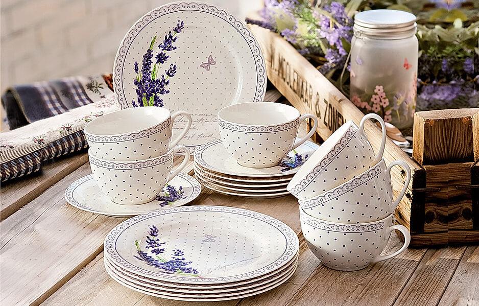 "Kaffeeservice ""Lavendel"""