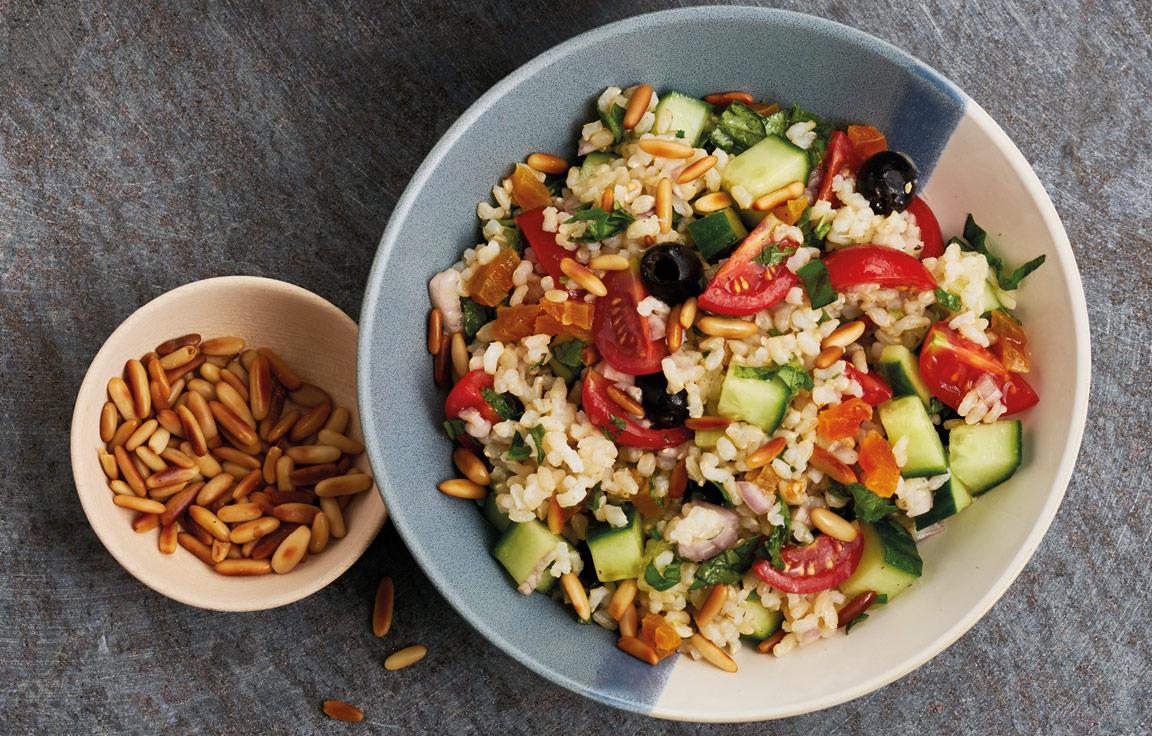 Mediterraner Getreidesalat Salat Rezept aus