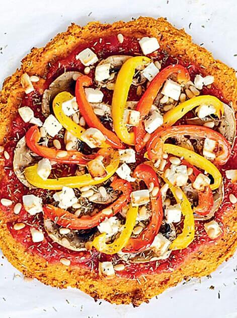 Pizza-Teig aus Süsskartoffeln