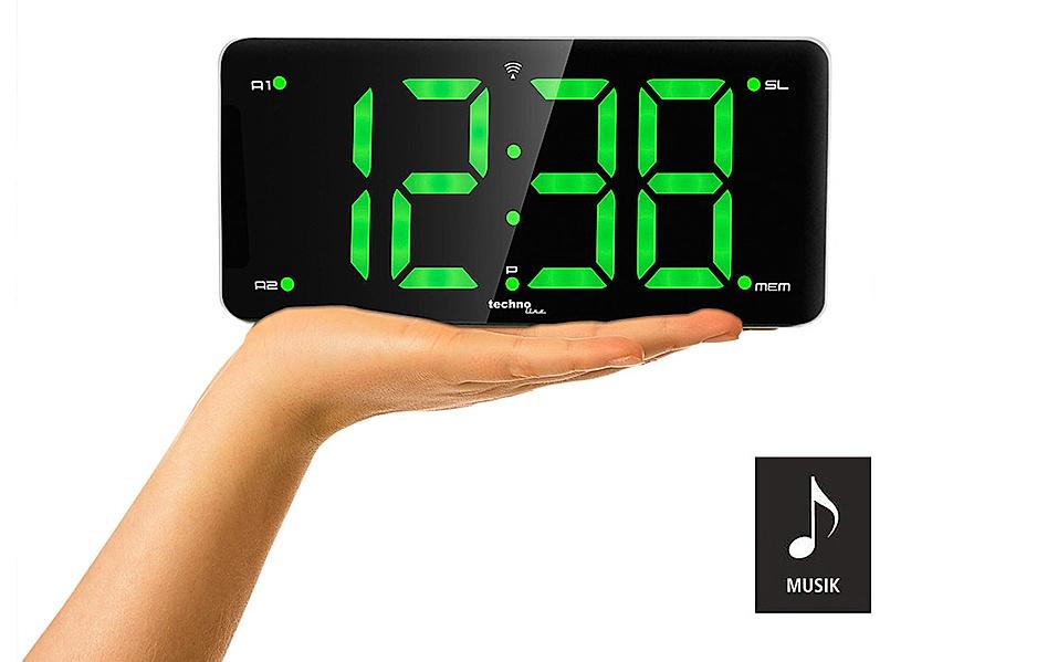 Digitaler Radiowecker mit extra großen LED- Ziffernanzeige