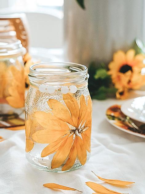 Sonnenblumen-Windlichter