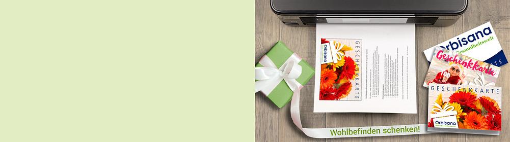## Schenken Sie Freude und Wohlbefinden mit den elektronischen **Orbisana-Geschenkkarten**  • Gutschein erstellen und sofort ausdrucken oder per Mail versenden • Einlösbar bei Orbisana.de • Unbegrenzte Gültigkeit • Bargeldlos, schnell und flexibel  Infos zur Bezahlung, Download und Einlösung der digitalen Geschenkkarten finden Sie [hier](https://www.orbisana.de/service/haeufige-fragen/zahlung-und-mahnung/zahlung-per-digitale-geschenkkarte).