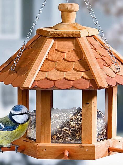 Wetterfeste Futterhaus aus Holz