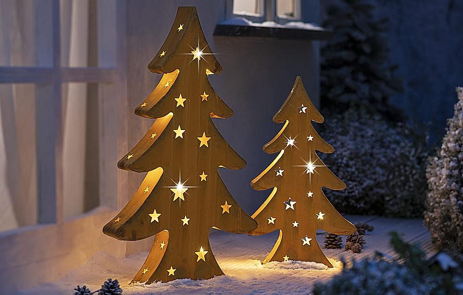 Tannenbaum mit LED-Lichterkette, 60 cm