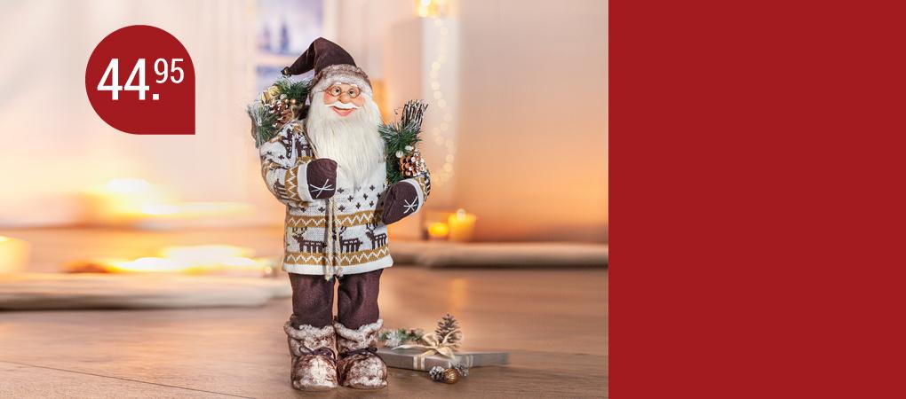 Weihnachtsfiguren und Dekoobjekte