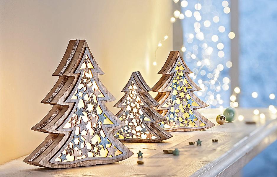 LED_Tannenbäume aus Holz
