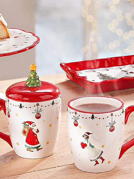 """Tassen, Tortenplatte und Stollenplatte """"Weihnachtszeit"""""""